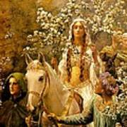 The Maying Of Queen Guinevere Art Print