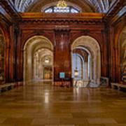 The Mcgraw Rotunda At The New York Public Library Art Print