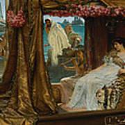 The Meeting Of Antony And Cleopatra  41 Bc Art Print
