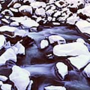 The Merced River In Winter, Yosemite Art Print