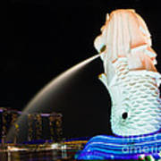 The Merlion - Singapore Art Print by Pete Reynolds