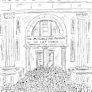 The Metropolitan Museum Of Cat Videos Thronged Art Print