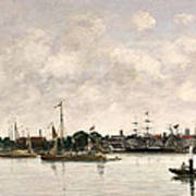 The Meuse At Dordrecht Art Print