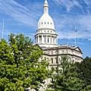 The Michigan Capitol Building Art Print