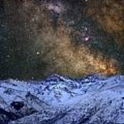 The Milky Way Over The High Mountains Art Print
