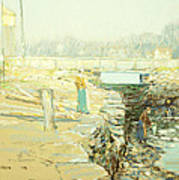 The Mill Dam Cos Cob Art Print