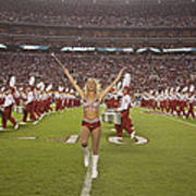 The Million Dollar Marching Band Of The University Of Alabama Art Print