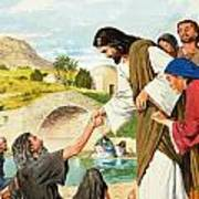 The Miracles Of Jesus  Making The Lame Man Walk Art Print