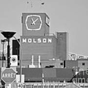 The Molson Clock Montreal Print by Reb Frost