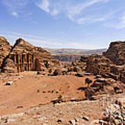 The Monastery Sculpted Out Of The Rock At Petra In Jordan Art Print by Robert Preston