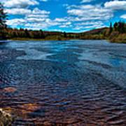 The Moose River At The Green Bridge Art Print