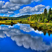 The Moose River From The Green Bridge Art Print