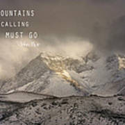 The Mountains Are Calling And I Must Go  John Muir Vintage Art Print