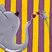 The Mouse And The Elephant Art Print by Christy Beckwith