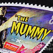 The Mummy Postage Stamp Print Art Print