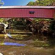 The Narrows Covered Bridge 1 Art Print