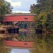 The Narrows Covered Bridge 4 Art Print