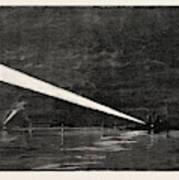 The Naval Manoeuvres, With The Hostile Fleet The Fleet Art Print