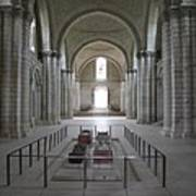 The Nave With Tombs Fontevraud Abbey Art Print
