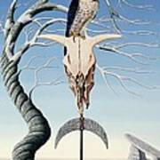 The Neolithic Totem Oil On Canvas Art Print