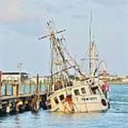 The New Hope Sunken Ship - Ocean City Maryland Art Print