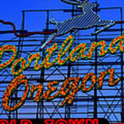 The New Portland Oregon Sign Day Time Art Print by DerekTXFactor Creative