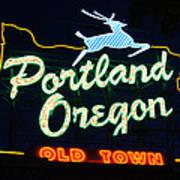 The New Portland Oregon Sign Art Print by DerekTXFactor Creative