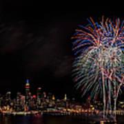The New York City Skyline Sparkles Art Print by Susan Candelario