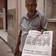The Newspaper Seller Art Print