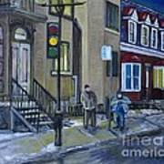 The Night Shift Waiting For The Bus Art Print