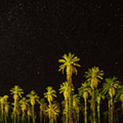 The Night Sky Over Death Valley Art Print