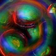 The No.7 Colored Hurricane Art Print