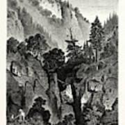 The Nunnery Of Ottilienberg, Alsace. Mont Sainte-odil Art Print