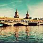 The Oberbaum Bridge In Berlin Germany Art Print
