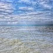 The Ocean And The Pole Art Print
