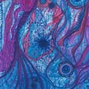 The Ocean's Blue Heart Art Print