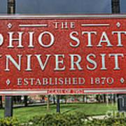 The Ohio State University Art Print