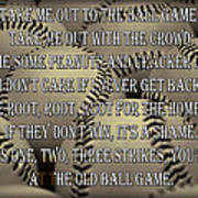 The Old Ballgame Art Print