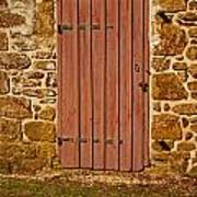 The Old Barn Door Art Print