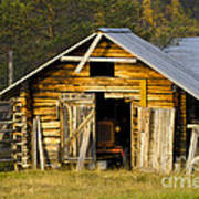 The Old Barn Print by Heiko Koehrer-Wagner