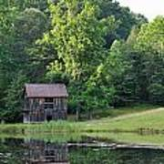 The Old Barn On The Pond Art Print
