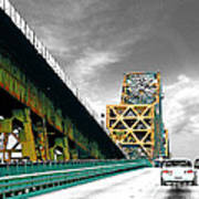 The Old Bridge Hwy 190 Mississippi River Bridge Baton Rouge Art Print