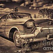 The Old Cadillac  Art Print