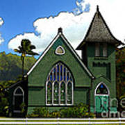 The Old Church In Hanalei Art Print