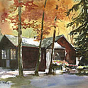 The Old Cottage Art Print