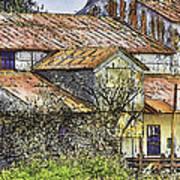 The Old Cotton Barn Art Print by Barry Jones
