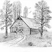 The Old Country Barn Art Print