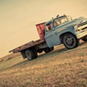 The Old Farm Truck Art Print