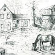 The Old Horse Farm Art Print