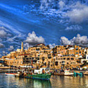 the old Jaffa port Art Print by Ron Shoshani